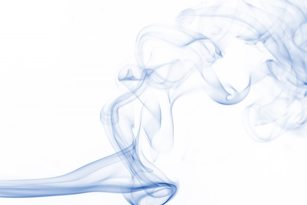 Collection De Fumée Bleue Sur Fond Blanc Photo gratuit