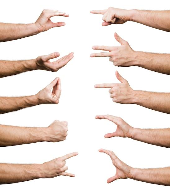 Collection de gestes de la main Photo gratuit