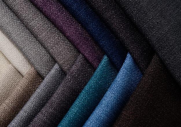 Collection Lumineuse D'échantillons De Textile Gunny. Fond De Texture De Tissu. Photo Premium