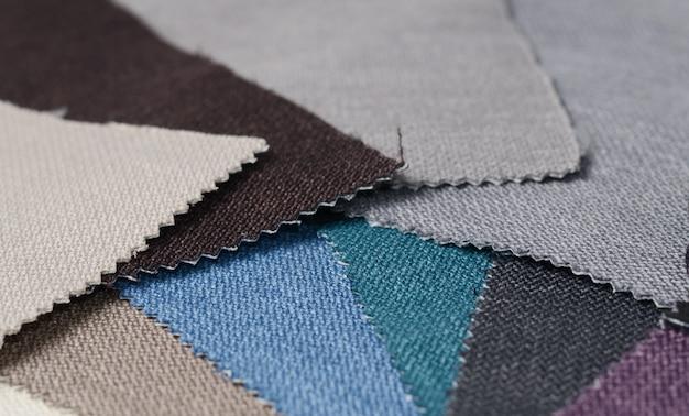 Collection Lumineuse D'échantillons De Textile Gunny. Texture De Tissu. Photo Premium