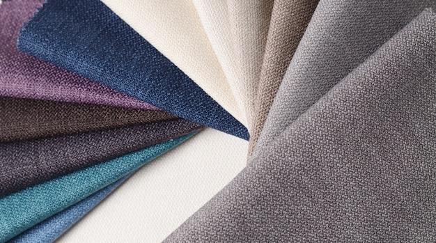 Collection lumineuse d'échantillons de textile gunny Photo Premium