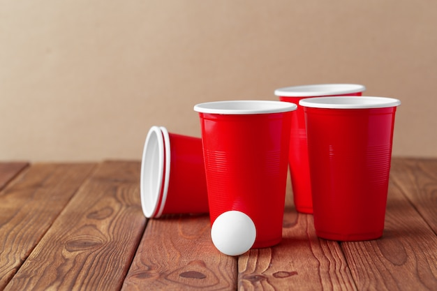 College party sport - bière pong Photo Premium