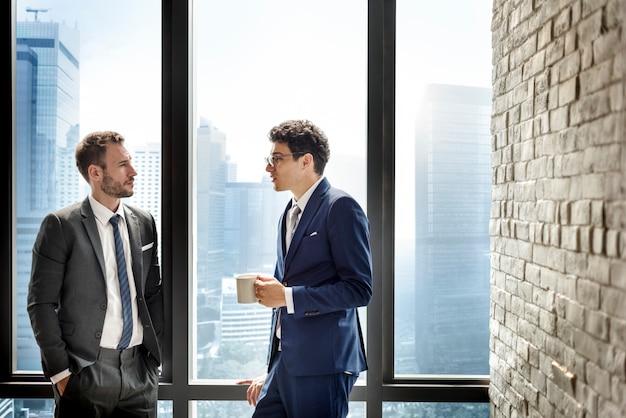 Collègues, collègues, homme affaires, concept Photo Premium
