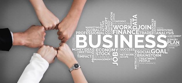 Commerce commerce finance et marketing concept. Photo Premium