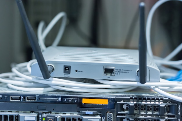 Commutateur de routeur. Photo Premium