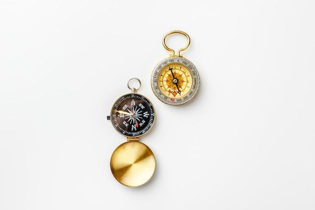 Compas métallique isolé Photo Premium