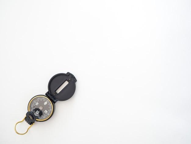 Compas militaire noir isolé sur blanc Photo Premium