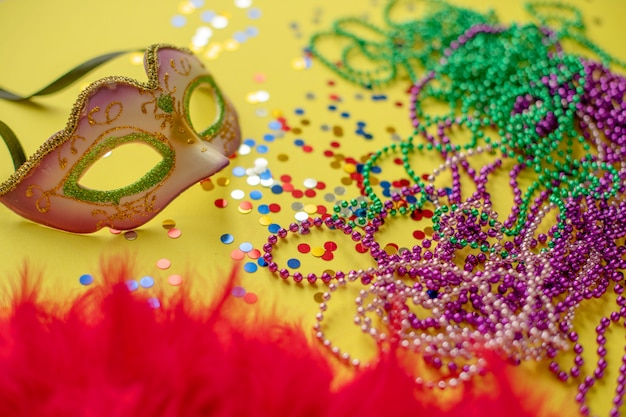 Composition de carnaval ou de mardi gras Photo Premium