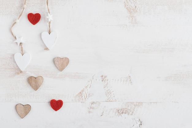 Composition De Coeur Avec Espace Copie Photo gratuit