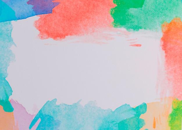 Composition colorée avec des coups de pinceau aquarelle Photo gratuit