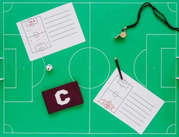 Composition de concept de football Photo gratuit
