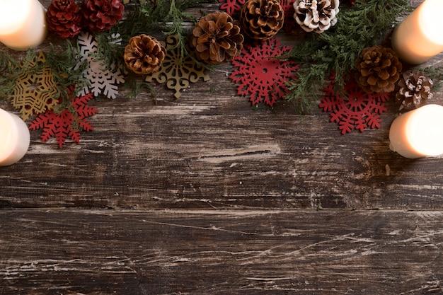 Composition De Décorations De Noël à Plat Avec Espace Copie Photo gratuit