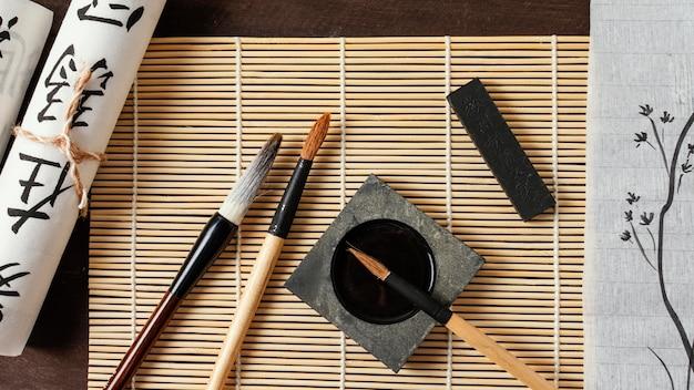 Composition D'éléments D'encre Chinoise Photo gratuit