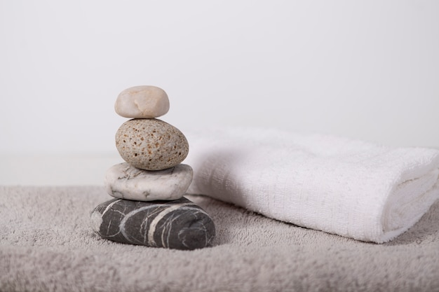 Composition d'objets de salle de bain ou de spa Photo gratuit