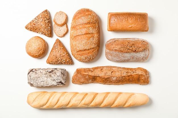 Composition à Plat Avec Espace De Produits De Boulangerie Pour Le Texte Photo Premium