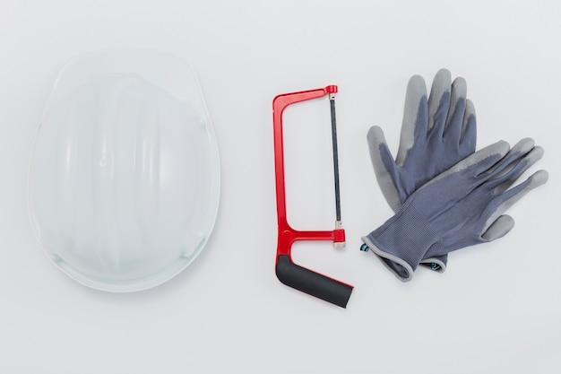 Composition à plat d'outils Photo gratuit