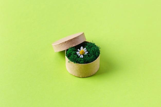 Composition De Printemps Avec Boîte Et Fleurs. 8 Mars. Vue De Dessus Photo Premium