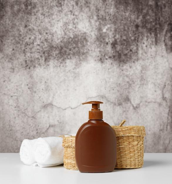 Composition de produits de bien-être spa Photo Premium