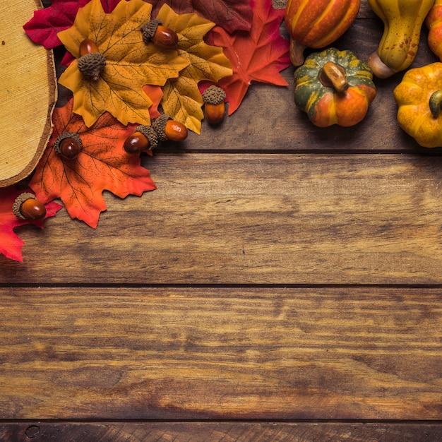 Composition de la récolte d'automne Photo gratuit