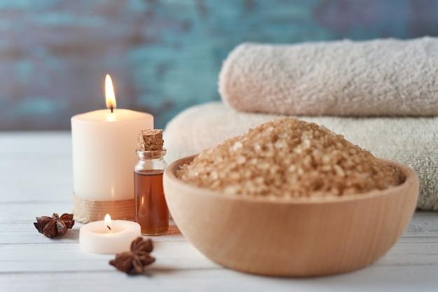 Composition de traitement spa et cosmétique Photo Premium