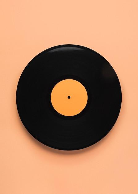 Composition De Vinyle Noir Vue De Dessus Photo gratuit
