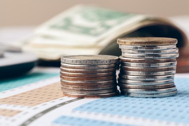 Comptabilité au bureau. finance d'entreprise et concept de comptabilité Photo Premium