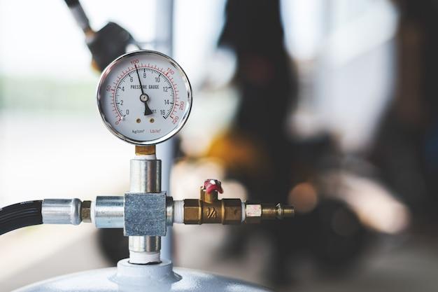 Compteur de pression du compresseur d'air Photo Premium