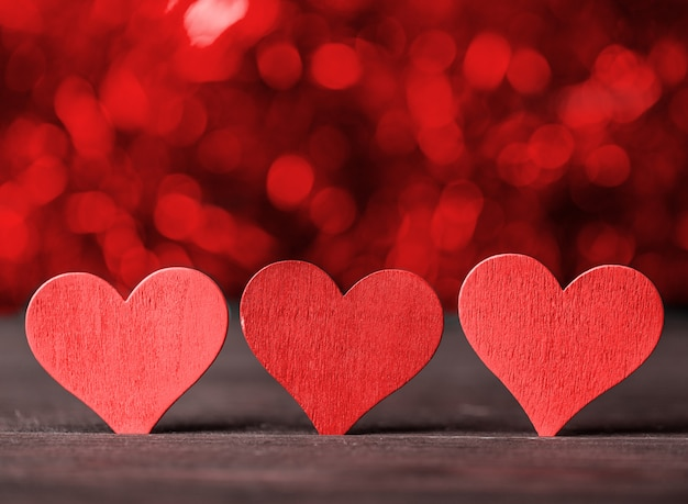 Concept D'amour Pour La Fête Des Mères Et La Saint-valentin. Valentin. L'amour. Photo Premium