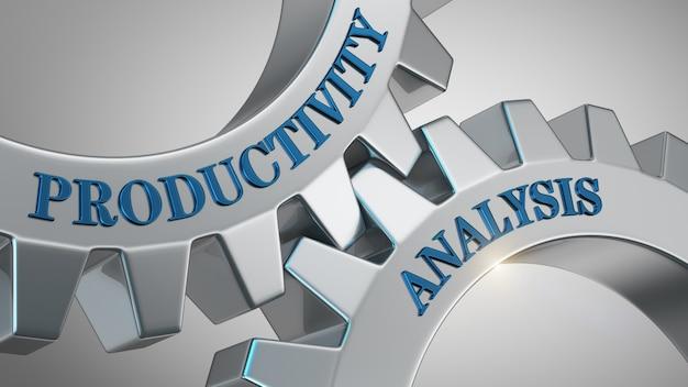 Concept d'analyse de la productivité Photo Premium