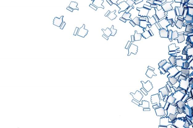 Concept art sur les réseaux sociaux Photo Premium