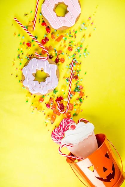 Concept De Bonbons D'halloween Photo Premium
