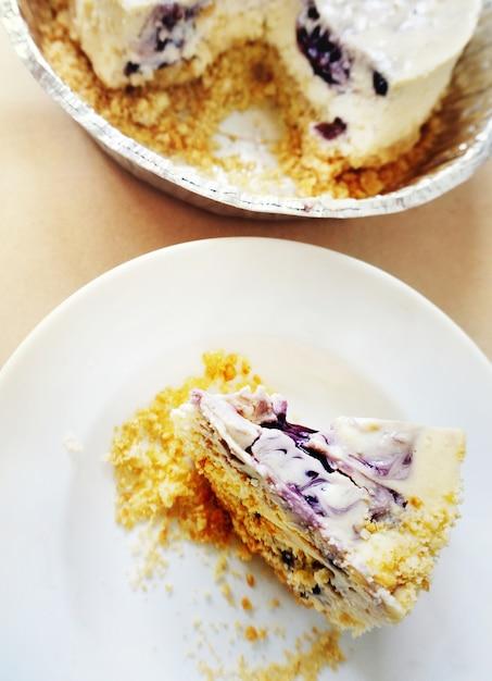 Concept de boulangerie au fromage aux bleuets Photo gratuit