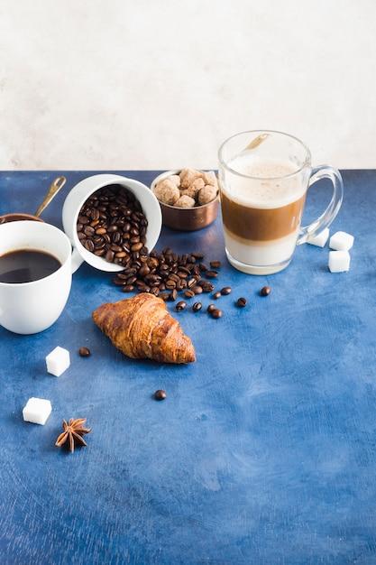 Concept café élégant Photo gratuit