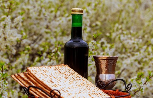 Concept de célébration de pesah vacances de la pâque juive .passover haggadah tale passover Photo Premium