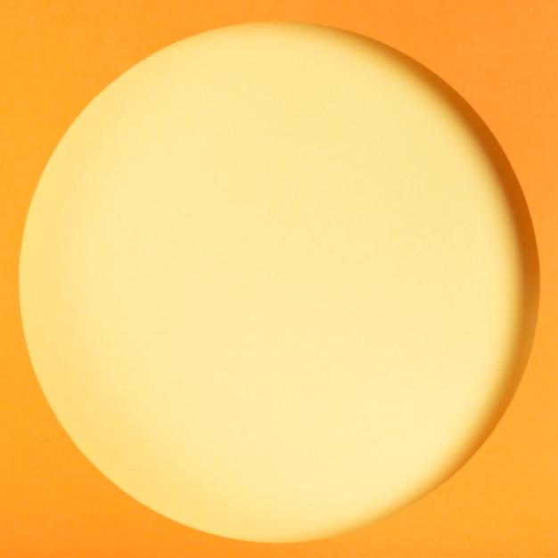 Concept de cercle de papier coloré vue de dessus Photo gratuit