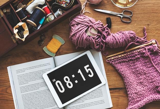 Concept de crochet artisanat fait à la main Photo gratuit