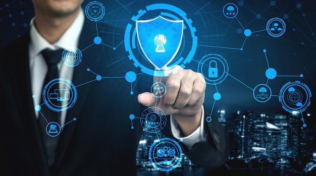 Concept De Cybersécurité Et De Protection Des Données Numériques Photo Premium