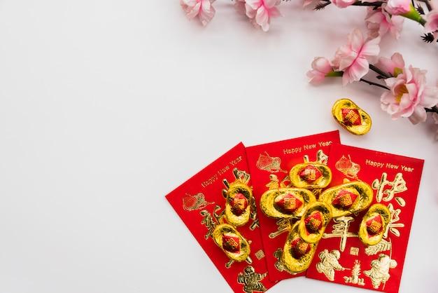 Concept du nouvel an chinois avec fond Photo gratuit