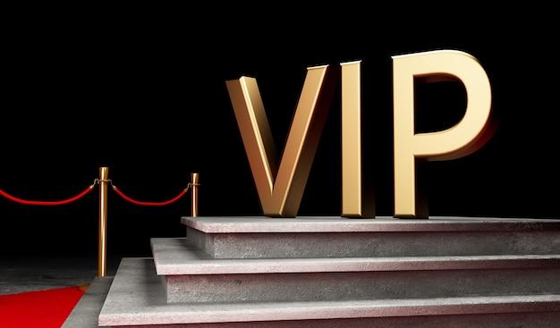 Concept du succès et du triomphe du tapis rouge, de l'escalier et de la corde d'or Photo Premium