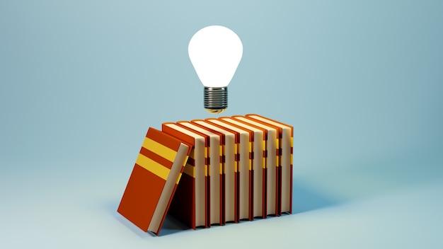 Concept D'éducation. Rendu 3d Du Livre, Concept Isométrique De Design Plat Moderne Photo Premium