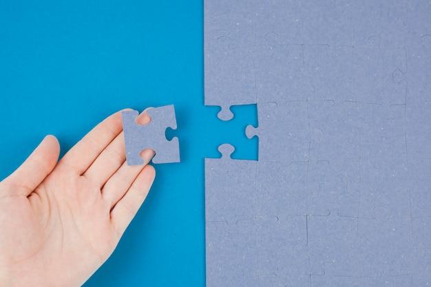 Concept d'entreprise avec puzzle Photo gratuit