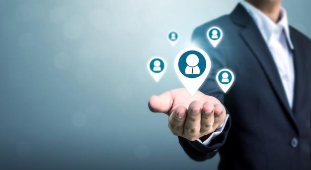 Concept d'entreprise ressources humaines, gestion des talents et recrutement Photo Premium