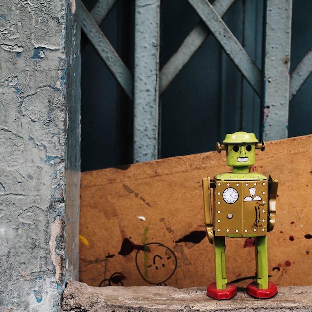 Concept De L'environnement De Robot De Fleur Photo gratuit