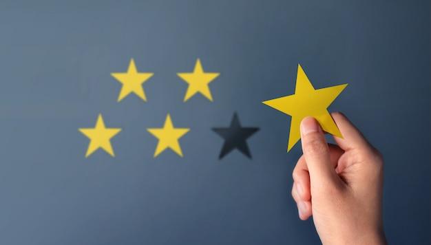 Concept d'expérience client, meilleurs services d'excellence pour la satisfaction Photo Premium