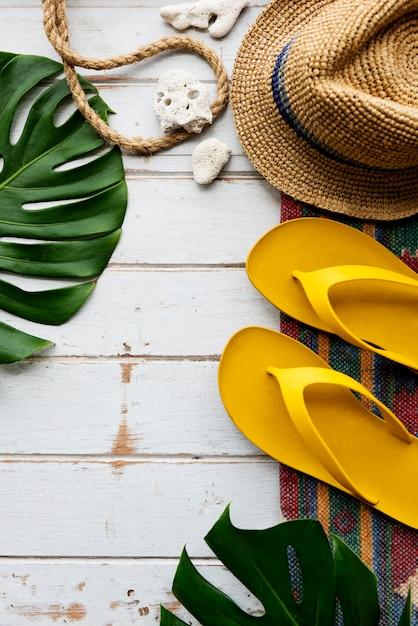 Concept d'exploration de voyage de vacances de vacances de plage d'été Photo gratuit