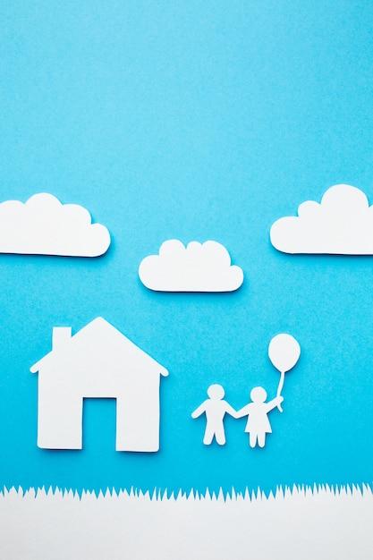 Concept De Famille De Papier Artistique Photo gratuit