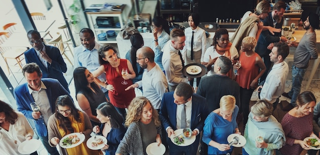 Concept De Fête Party Food Restaurant Restaurant Photo Premium