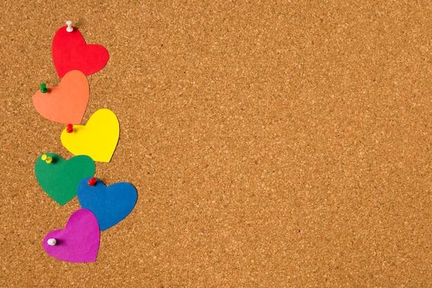 Concept De Fierté Gay Sur Fond De Liège Photo gratuit