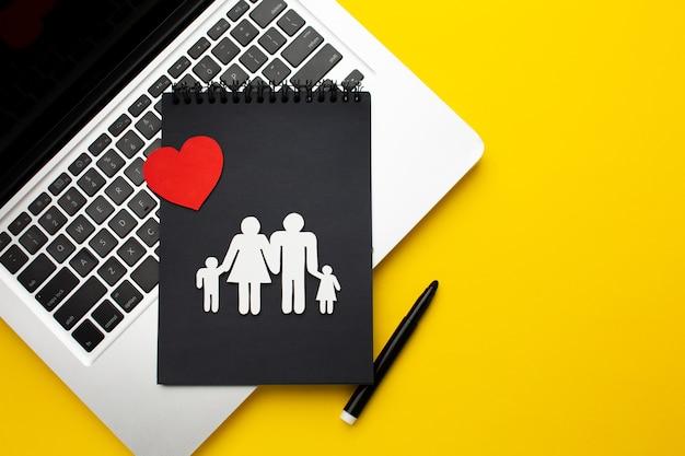 Concept De Figure De Famille Vue De Dessus Photo gratuit