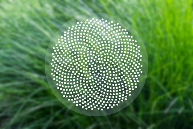 Concept de fond sacré avec des points de fibonacci Photo Premium